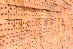 Red bricks stack Royalty Free Stock Images