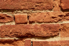 Red bricks stacked in rows Stock Photography