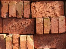 Red Bricks. Stacked up for construction stock photos