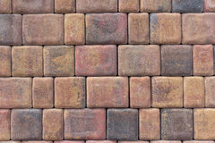 Red bricks / stone wall close up Stock Photography