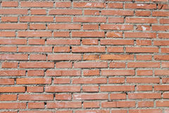 Red bricks texture. Large image of brick wall Royalty Free Stock Images