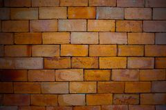 Red brick for a good commercial background. Red bricks used for brick wall good for background and grunge look Stock Photography