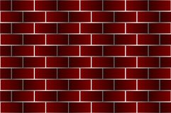 Red bricks - vector pattern. Brick wall - dark red background Royalty Free Stock Images