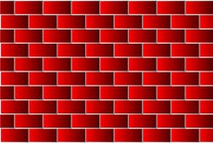 Red bricks - vector pattern. Brick wall - red background Stock Photos
