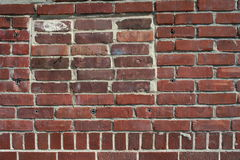 Red bricks of a wall Stock Photos