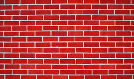 Red bricks wall. Wall of bright red bricks useful as a background Stock Images