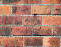 Red bricks in wall Stock Images