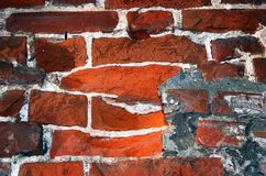 Red bricks wall background. Stock Photos