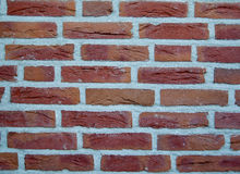 Red bricks wall background Royalty Free Stock Images
