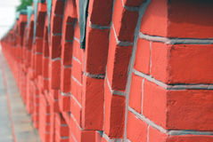 Red bricks wall in Moscow Kremlin. UNESCO World Heritage Site. Royalty Free Stock Images