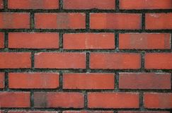 Red Bricks Wall. A photo taken on a wall made of red bricks Stock Photography