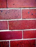 Red Bricks of a wall. A picture of red bricks of a wall surrounding a house Stock Image