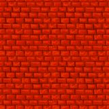 Red brickwork vector seamless pattern Royalty Free Stock Photo