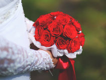 Red bridal bouquet Royalty Free Stock Photo