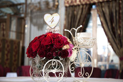 Red bridal bouquet Stock Photo