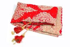 Red bridal lehnga with hangings. Isolated on white background Stock Image