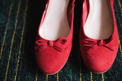 Red brides shoe Stock Photography