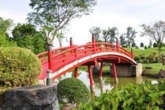Red bridge Stock Photo