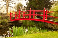 Red bridge Stock Image