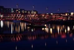 Red bridge stock photography