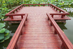 Red  bridge Stock Photo