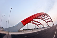 Red bridge Royalty Free Stock Image