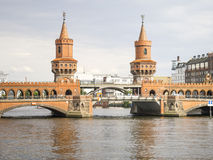 Red Bridge in Berlin Germany Royalty Free Stock Photos
