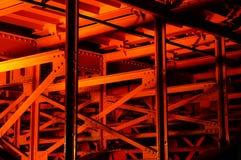 Red Bridge Detail. Close-up of a Red Bridge in Asakusa, Tokyo stock photos