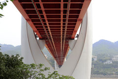 Red bridge Royalty Free Stock Photo