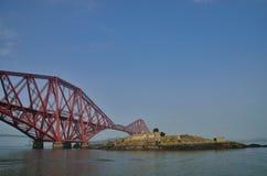 Red bridge forth bridge Royalty Free Stock Photo