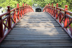 Red Bridge in Hanoi Stock Image