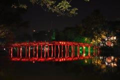 Red bridge Royalty Free Stock Image