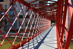 Red Bridge  Inside view Royalty Free Stock Photos