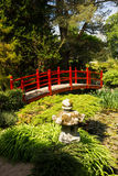 Red bridge. Irish National Stud's Japanese Gardens.  Kildare. Ireland Royalty Free Stock Photo