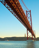 Red Bridge, Lisbon, Portugal Royalty Free Stock Photo
