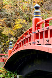 Red bridge in Nikko Royalty Free Stock Photos
