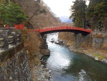 Red bridge Niko Japan Stock Photography