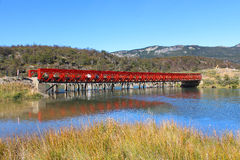 Red bridge Royalty Free Stock Photos