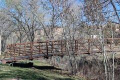 Red Bridge over River. Red Bridge over the Santa Fe river Stock Image