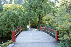 Red bridge path Royalty Free Stock Photography
