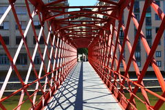 Red Bridge perspective Stock Images