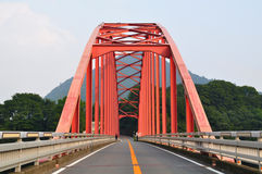 Red Bridge Royalty Free Stock Photo