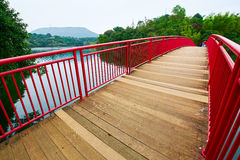 The red bridge. The photo was taken in Grand Canyon scenic spot Shenzhen city Guangdong province, China Stock Photo