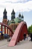 Red bridge Poznan Stock Photos