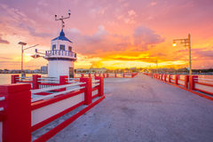 Red Bridge of Prachuap Khiri Khan Stock Photography