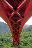Red bridge, Taiwan Stock Photo