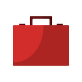 Red briefcase icon Royalty Free Stock Image