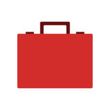 Red briefcase icon Stock Image