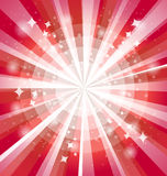 Red bright background with rays Royalty Free Stock Photography