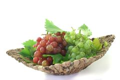 Red and bright grapes Stock Photos